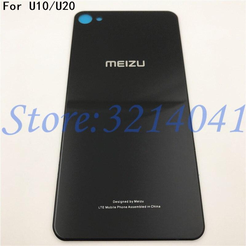 Original 3D Glass Back Housing For MEIZU U10 U20 Back Cover Case Battery Rear Door With Adhesive Sticker+Logo