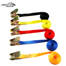 1 Pcs 5 meter length 2.5CM with car tension rope Ratchet Ratchet Tie luggage strap tied with fixed cargo retractor 25mm