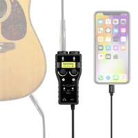 Saramonic SmartRig+ Di 2 Channel XLR 3.5mm Microphone Audio Mixer with Phantom Power Preamp Guitar Interface for iPhone X 8 8P 7