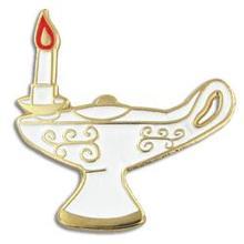 סיעוד סיום מתנות מנורת דש Pin תג