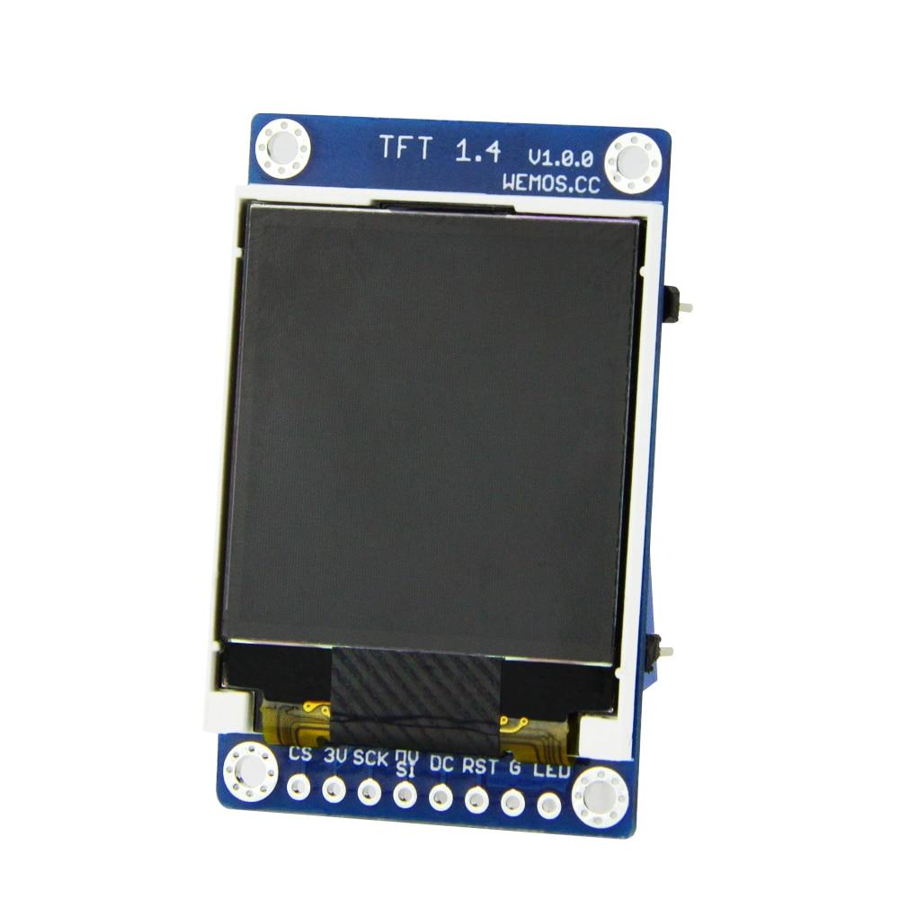 ESP8266 TFT 1 4 Shield V1 0 0 Display Screen Module for D1 mini 1 44inch inch 128X128 SPI LCD ST7735S