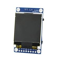"ESP8266 TFT 1.4 درع V1.0.0 وحدة شاشة عرض ل D1 البسيطة 1.44 ""بوصة 128X128 SPI LCD ST7735S"
