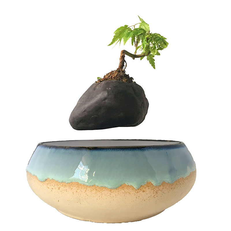 2018 japan levitating potted magnet floating pots air bonsai gifts for men (no plant) free shpping