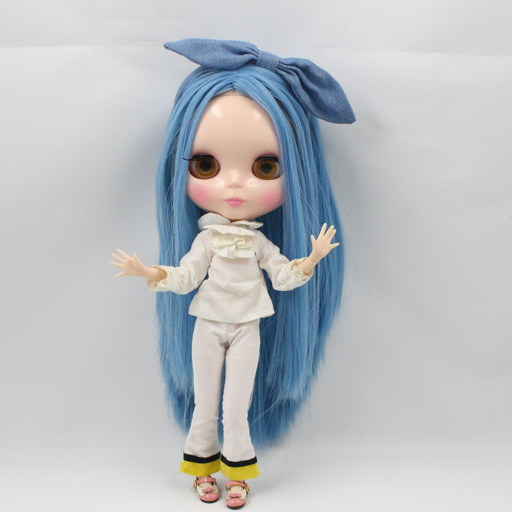 ICY Nude Factory Blyth Doll Series No BL136 White hair Bob hair style Transparent skin Joint