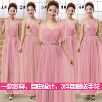 2017 new Bridesmaid Dresses plus size stock cheap under $50 long blue pink purple sexy elegant a line sexy grey rose red amdgm