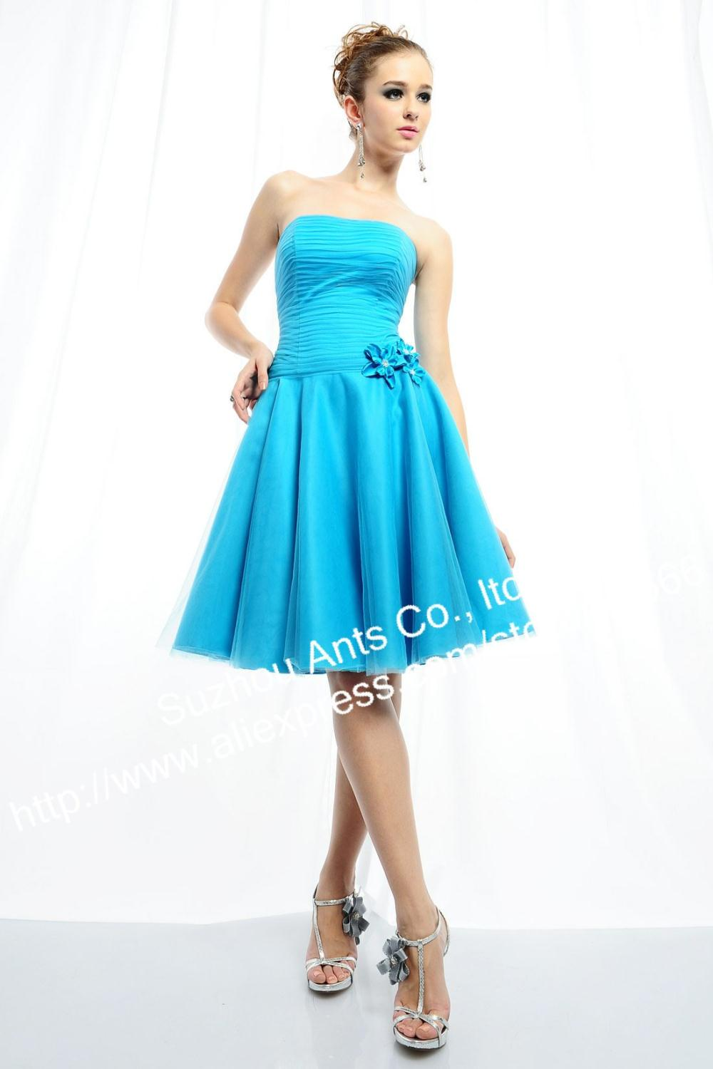 Discount a line sweetheart modest light blue short bridesmaid discount a line sweetheart modest light blue short bridesmaid dress tlf611 in bridesmaid dresses from weddings events on aliexpress alibaba group ombrellifo Image collections