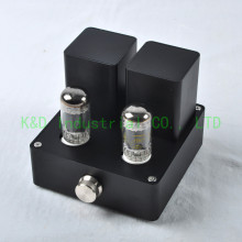 1pc Black Hifi Vacuum 38W Mini 6AD10 Tube Amplifier Class A power Amp Audio Valve ultra class a amplifier 2x80w stereo integrated power headphone amp audio whole aluminum casing black hifi