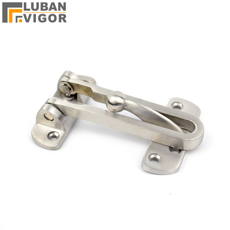 Thick door security buckle/lock, 304 stainless steel casting, Anti-theft deduction chain, bolt Wooden doors security, anti-lock free shipping electric rim lock electro mechanical lock used for access control systems anti theft doors wooden doors etc