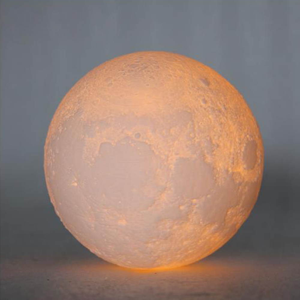 LED Moon night light ball shape Touch control 2 colors bedside light Table Light creative gift for birthday festival Diameter 12