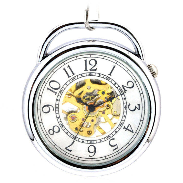 Pocket & Fob Watches Antique Automatic Mechanical Hand Wind Pocket Watch Men Vintage Dress Clock Necklace With Chain Lover Gift