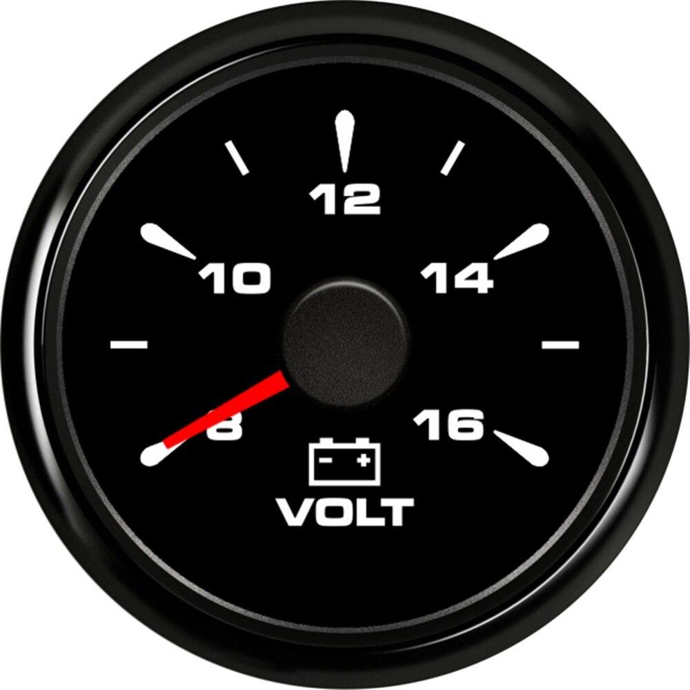 1pc New Arrival 52mm Pointer Voltage Gauges 8 16V Waterproof Voltmeters with 8 Kinds Backlight Color Volt Meters for Auto Boat