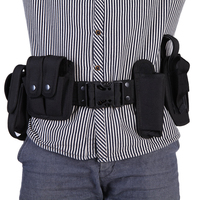 Outdoor Camping Tactical Hunting Belt Duty Utility Kit Belt With Pouches System Holster Training Security Guard