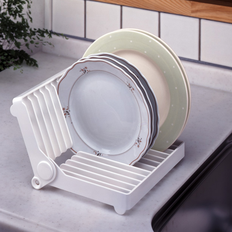 Foldable dish rack kitchen plate stand tableware cup storage rack drainer kitchen accessories-in Racks u0026 Holders from Home u0026 Garden on Aliexpress.com ... & Foldable dish rack kitchen plate stand tableware cup storage rack ...