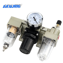 цена на AC2000-02 AC2000-02D Pneumatic frl AC2000 1/4 with copper cartridge pressure gauge SMC type air filter regulator lubricator