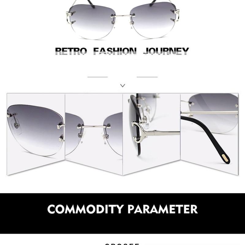 8350b5fc0 Óculos de sol baratos Óculos de sol sem aro Óculos de sol Homens Oval Óculos  de sol. Oferecemos o melhor preço de atacado, garantia de qualidade, ...
