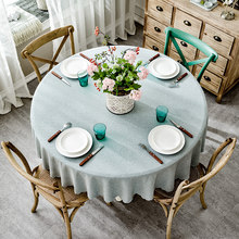 1538de13b RZCortinas Table Cover Round Wedding Party Hotel Table Cloth Cotton Linen  Nordic Solid Tablecloths Home Decor