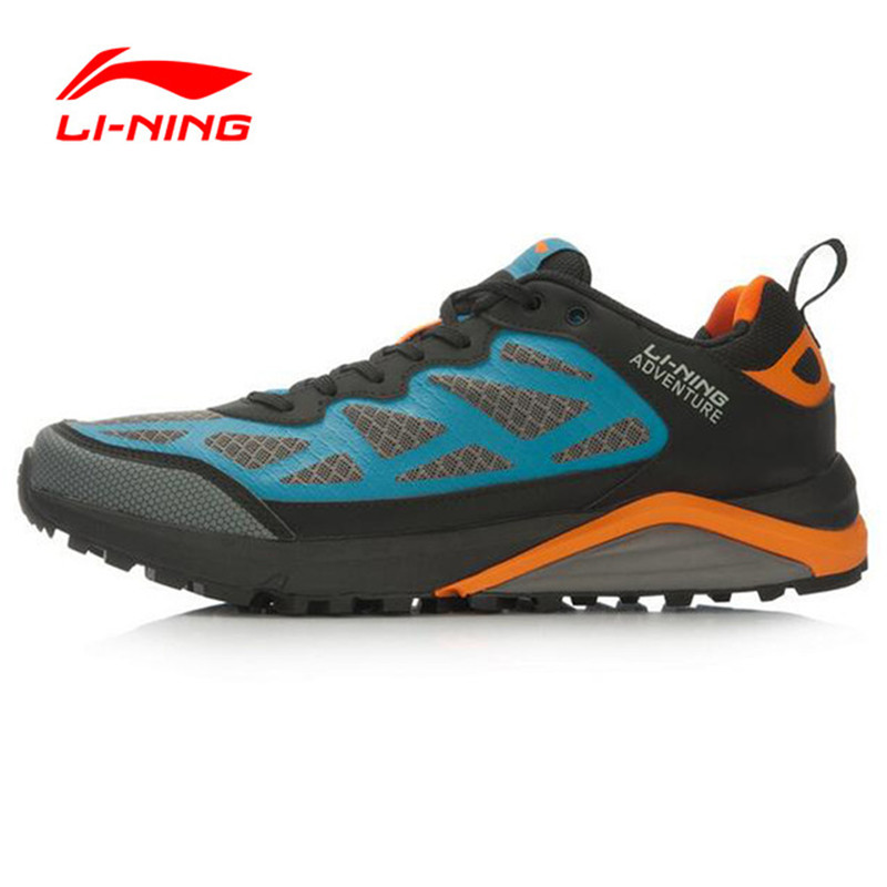 Li-Ning Original Shoes Adventure Cushioning Trail Running Shoes Off-road Running Sneakers For Man Outdoor Sports Shoes AHRL001 original li ning men professional basketball shoes