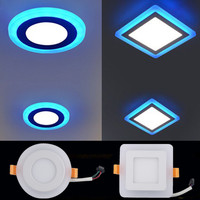Wholesale 20pcs/lot LED Panel Downlight 6w 9w 16w 24w Round/Square three model led Ceiling Recessed panel Light Painel lamp CE