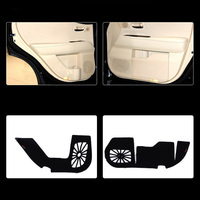 4pcs Fabric Door Protection Mats Anti kick Decorative Pads For Lexus RX 2004 2014