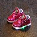 Venda quente das meninas dos meninos das crianças dos miúdos da moda princesa dos desenhos animados led light up colorful hip hop dance sneakers criança casuais shoes