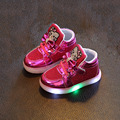 Venta caliente princesa de la manera muchachas de los niños de los niños de dibujos animados de colores led light up hip hop danza del niño zapatillas de deporte casuales shoes