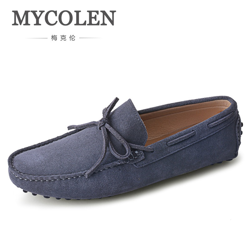 MYCOLEN Brand New Fashion Summer Spring Men Driving Shoes Loafers Real Leather Boat Shoes Breathable Male Casual Flats Loafers men s full grain leather shoes casual crocodile driving shoes slip on boat shoes fashion moccasins for men s loafers new quality