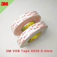 5 pcs 3 m 브랜드 테이프 4920 화이트 vhb 더블 코팅 양면 투명 아크릴 0.4mm 두께 길이 33 m 너비 선택