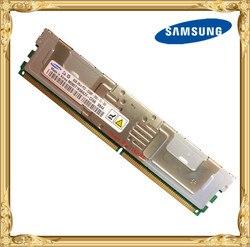 Pamięć serwera Samsung DDR2 8GB 16GB 667MHz PC2 5300F RAM ECC FBD FB DIMM w pełni buforowany 240pin 5300 8G 2Rx4 w RAM od Komputer i biuro na