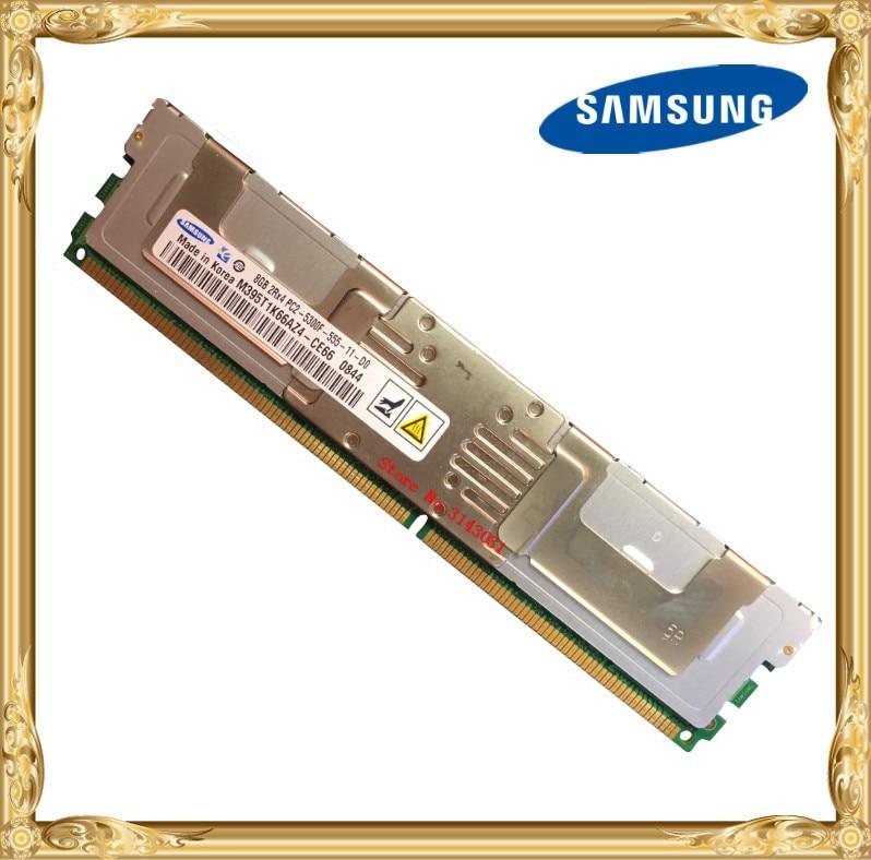 Samsung Serveur mémoire DDR2 8 GB 16 GB 667 MHz PC2-5300F RAM ECC FBD FB-DIMM À Fully Buffered 240pin 5300 8G 2Rx4