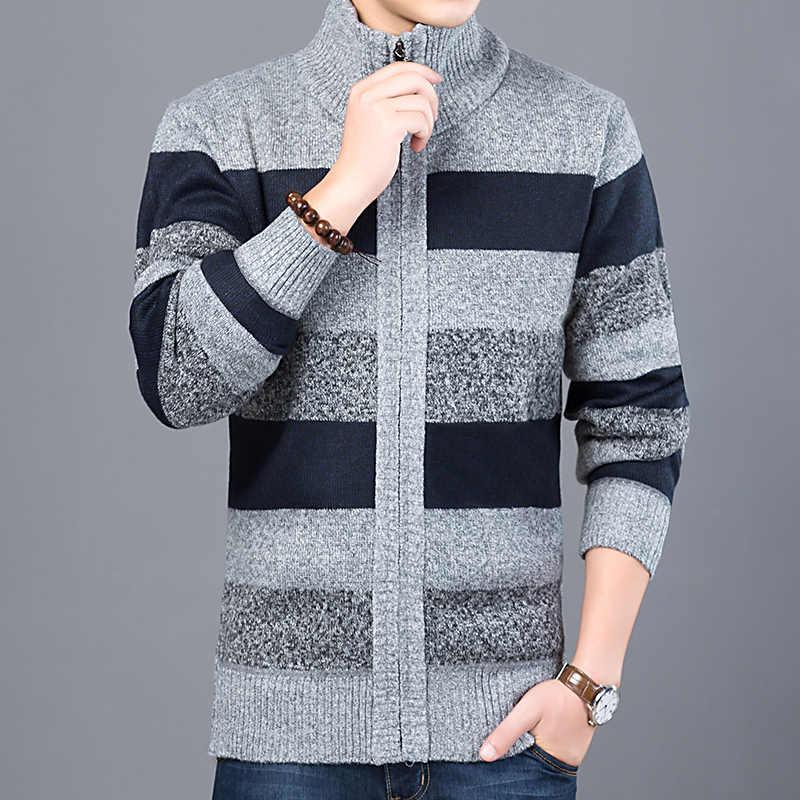 2020 kalın yeni moda marka kazak erkek hırka Slim Fit süveter triko sıcak sonbahar kore tarzı rahat giyim erkek