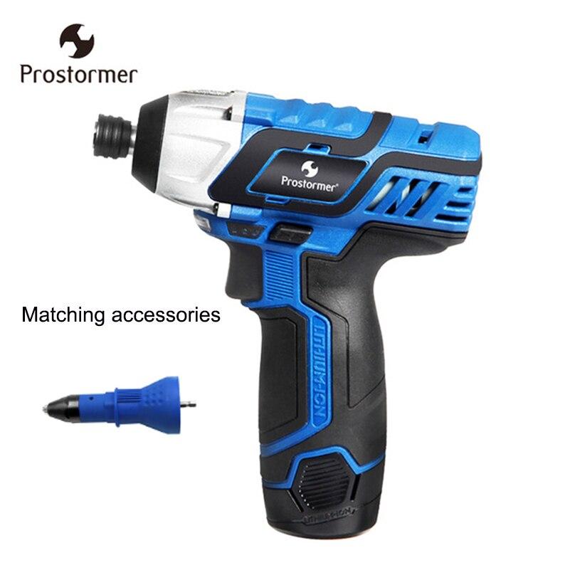 Prostormer 12 v sans fil tournevis perceuse électrique rechargeable au lithium batterie puissance outil peut être utilisé avec accessoires