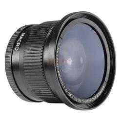 Широкоугольный Рыбий глаз 58 мм 0,35x с макроконверсионным объективом для камер canon 6d 7d 60d 70d 80d 650d 700d 600d 550d 500d 1000d 750d