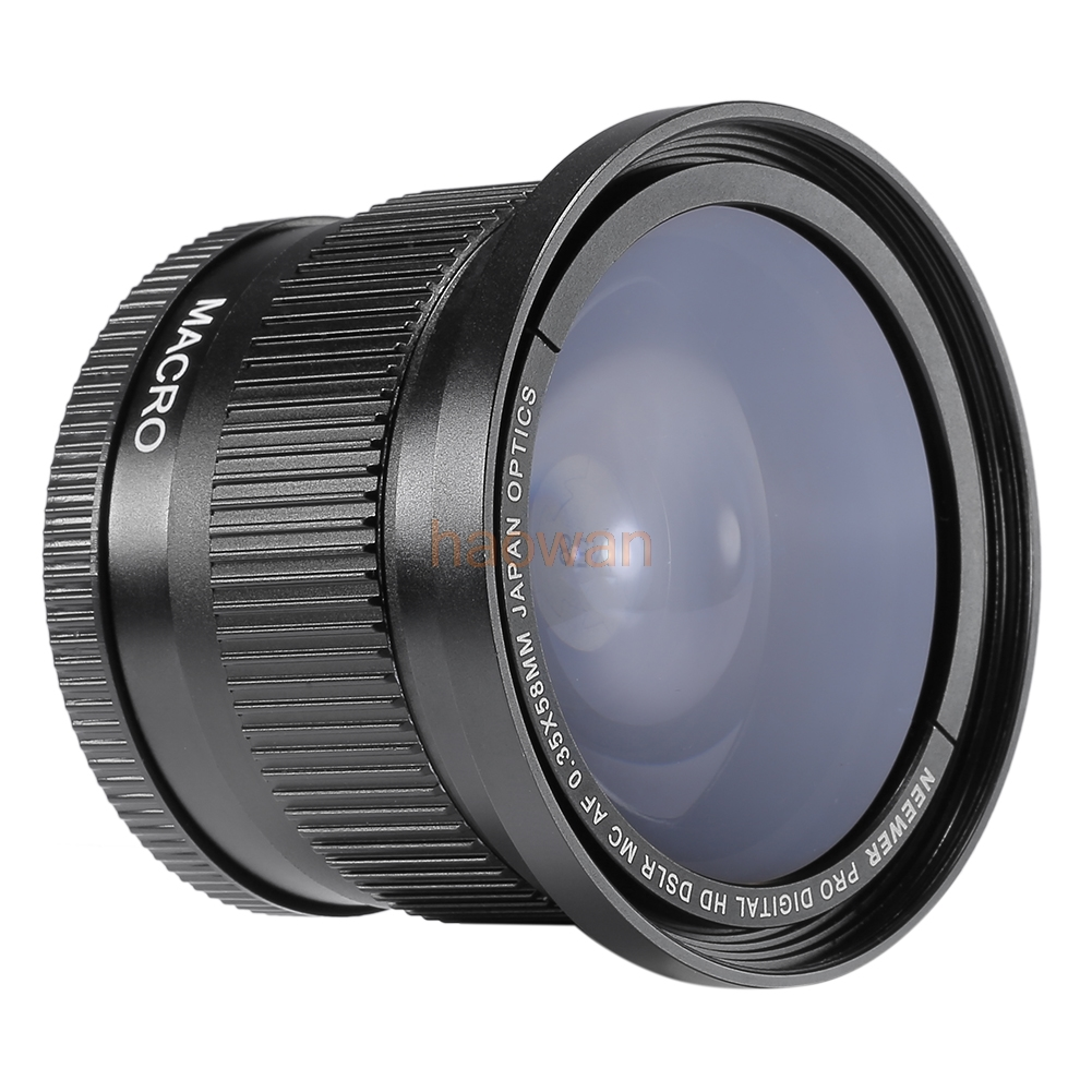 58mm 0.35x Fisheye Wide Angle with Macro Conversion LENS for <font><b>canon</b></font> 6d 7d 60d 70d 80d 650d <font><b>700d</b></font> 600d 550d 500d 1000d 750d camera image