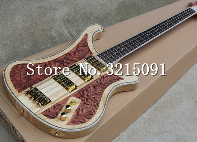 Factory Custom 4 strings neck thru body Electric Bass Guitar with ...