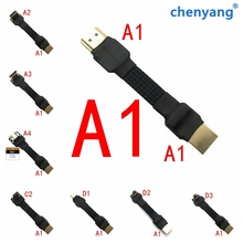 A1 HDMI Mini HDMI Micro HDMI 2,0 кабель преобразователя угол 5/10/15/20/30/50/см для ПК AV HDTV ЖК-дисплей FPV FFC 3D