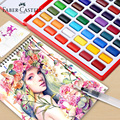 Professional Solid Watercolor Painting Set 24/36/48 Colors With Paintbrush Portable Watercolor Pigment Painting Art Supplies