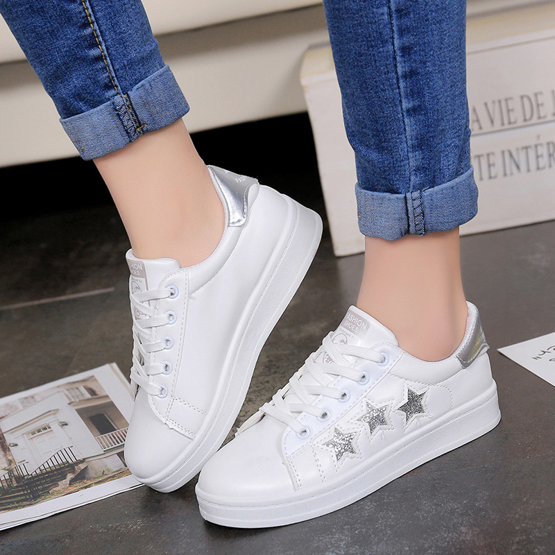 Women Shoes Summer 2019 Spring Women White Casual Shoes Breathable Flats Fashion Sneakers Women Vulcanization Shoes