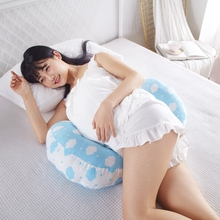 Simple Cloud Printed Pregnant Pillow For Side Sleepers Maternity Nursing Pregnancy Pillow Women Cotton Bedding Body Pillow