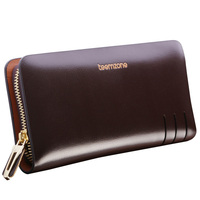 teemzone Sale Top Fashion Business Genuine Leather Daily Men's Clutch Wallets Male Clutch Purse Big Enough for Cellphone J35
