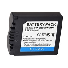 цена на 7.4V 1500mAh CGA-S006 DMW-BMA7 CGR-S006E Replacement Battery Bateria For Panasonic Lumix DMC-FZ7 FZ8 FZ18 FZ35 FZ28 FZ38 FZ30