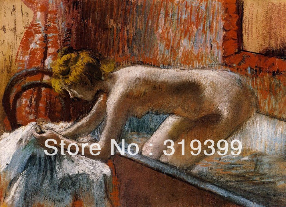 Oil Painting Reproduction on Linen Canvas,Woman Leaving Her Bath-1 by edgar degas ,Free DHL Shipping,100% handmadeOil Painting Reproduction on Linen Canvas,Woman Leaving Her Bath-1 by edgar degas ,Free DHL Shipping,100% handmade
