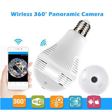 360 degree Wireless Camera 1080P /960P Bulb Lamp Light FishEye Smart Home 3D VR Camera 2MP Home Security Wi Fi Camera Panoramic(China)