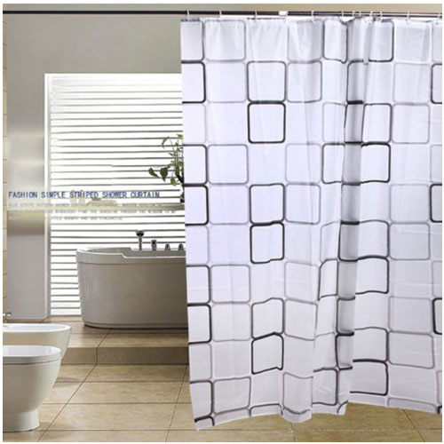 Bathroom Shower Curtains Bath Curtain Waterproof Anti-Mold / Anti-Bacterial, Bath Shower Curtain 180 * 180 White