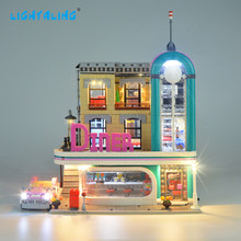 Lightaling LED Light Kit For Creator City Street Downtown Diner Building Block Light Set Compatible 10260(NOT Include The Model) цена 2017