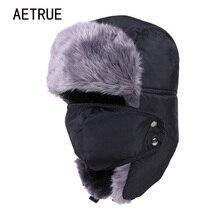 Winter-Hat Skull-Mask Earflap Russian Women Cotton for Thicken Balaclava Fur Keep-Warm-Caps