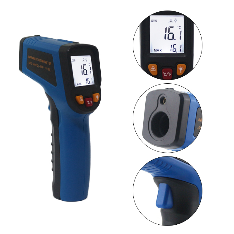 Image 5 - Digital Laser IR Infrared Thermometer Temperature Meter LCD  Thermostat  50~600C  50~400C C/F Celsius Pyrometer Non   contacttemperature meterthermometer temperatureinfrared thermometer  temperature -