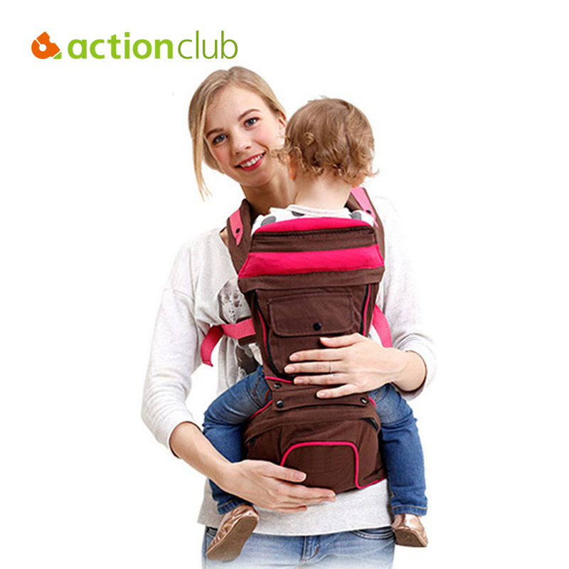 Actionclub Baby Carrier Baby Sling Mochilas Hipseat Backpack Wrap 360 Infant Carrier Four Position Toddler Canguru Baby bosch 1605510281
