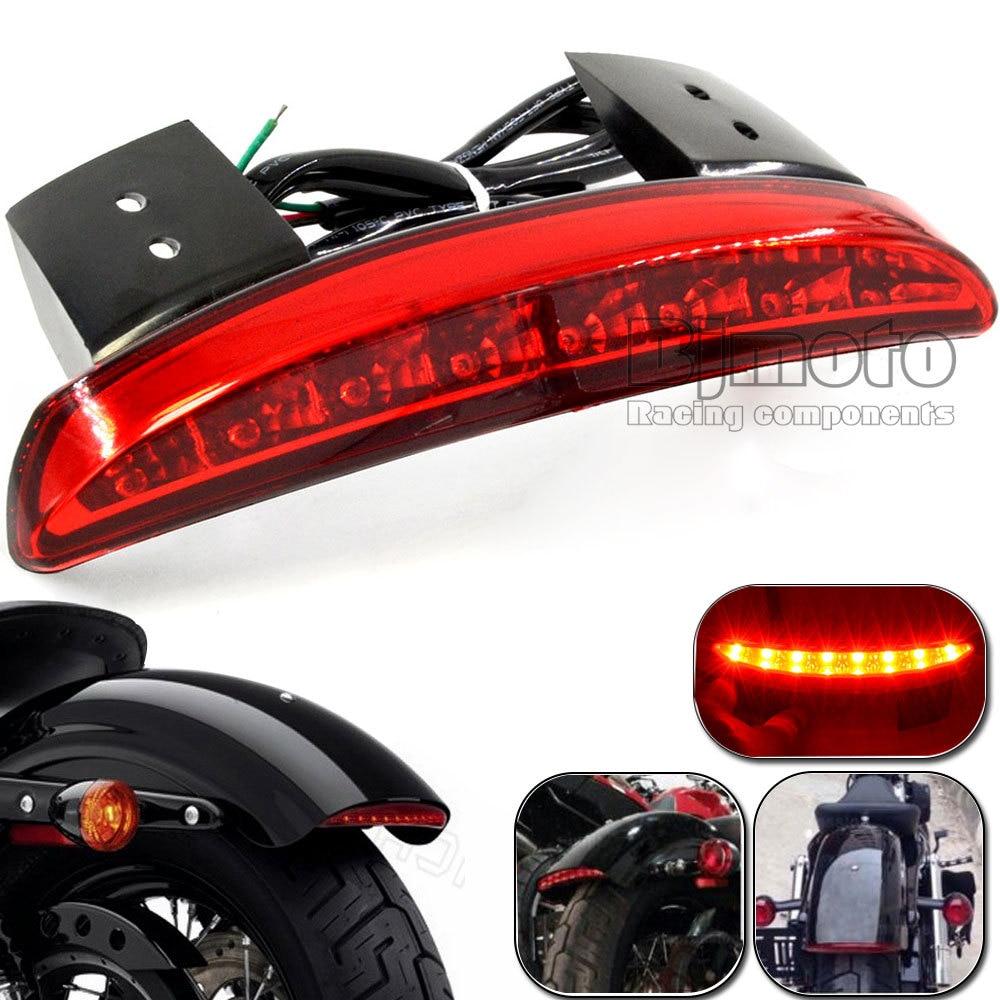 Motorcycle Rear Fender Edge Led Tail Light Taillight For Harley Davidson Xl L Xl N Iron Xl V Motocicleta