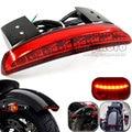 Motorcycle Rear Fender Edge LED Tail Light Taillight For Harley Davidson XL883L XL883N Iron XL1200V Motocicleta luzes de freio