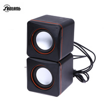 USB 3.5mm Aux Input Wired Speaker Computer Music Stereo Mini Subwoofer Speaker for Desktop Laptop Notebook Tablet